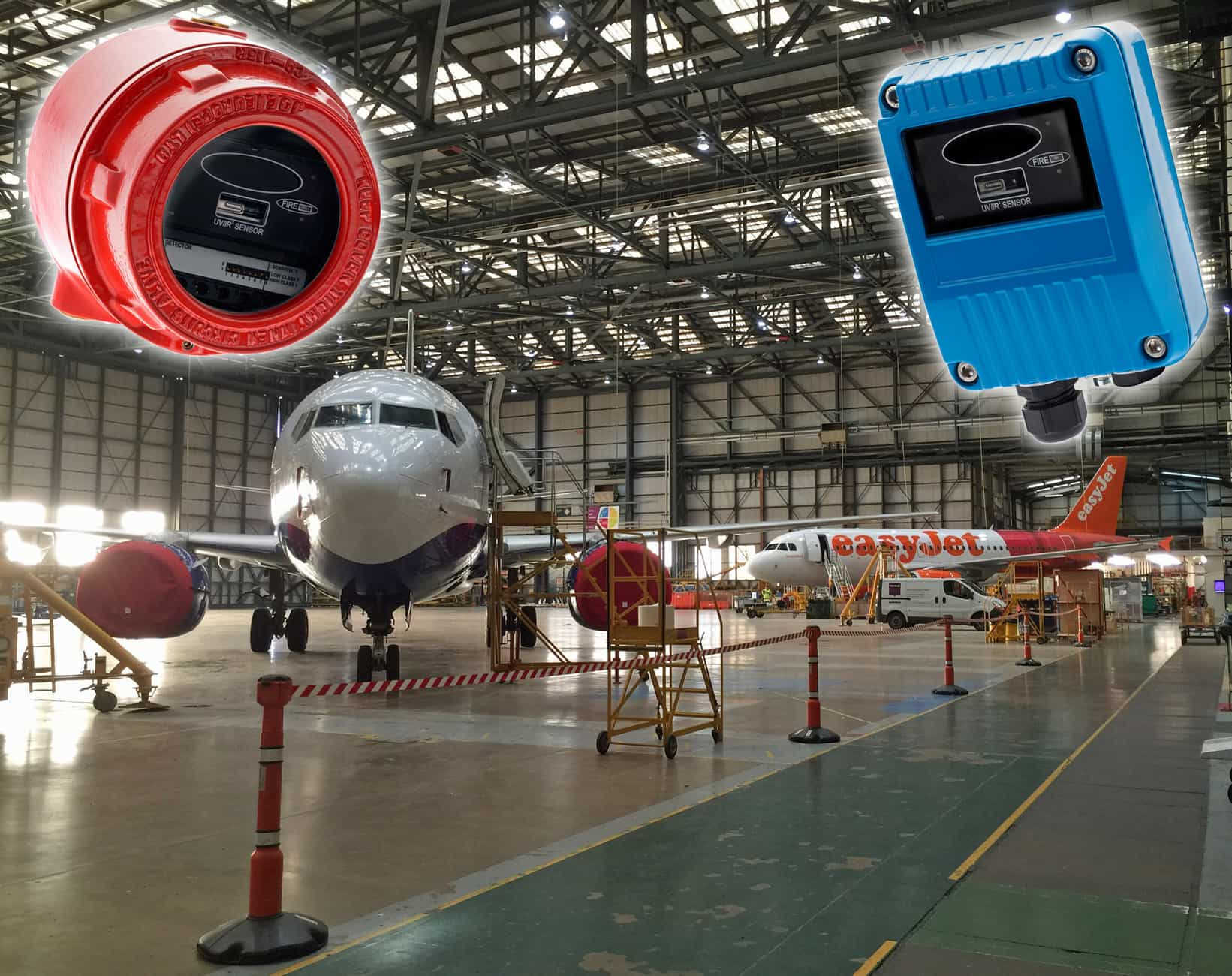 Airport's spray-painting hangar protected by FFE