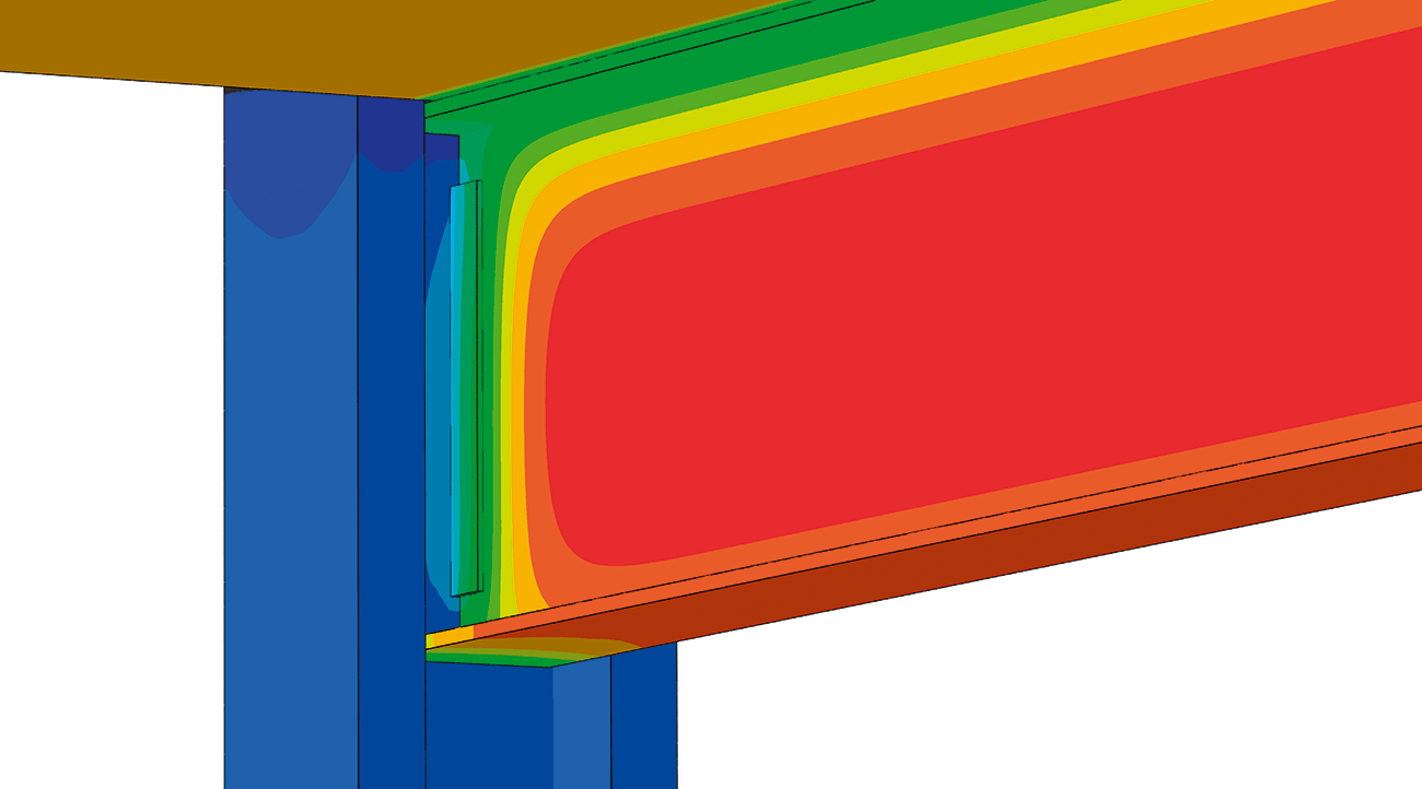 Thermal Analysis of a Girder-Column Connection.