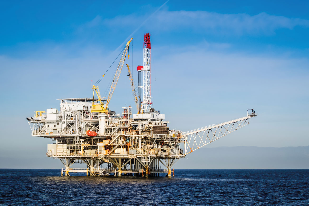 Oil and gas production platform.