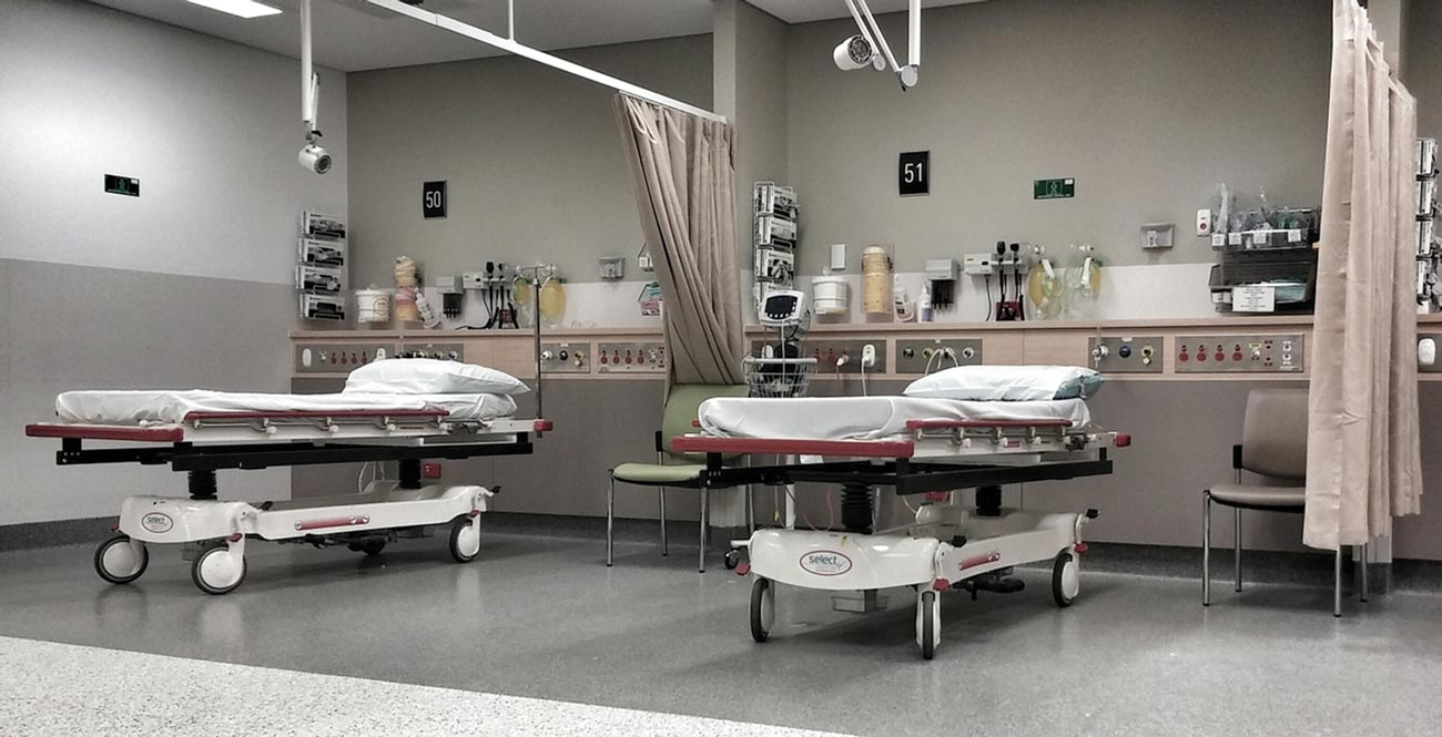 Critical fire and life safety needs must be balanced with patient care in hospitals as well as new temporary makeshift facilities.