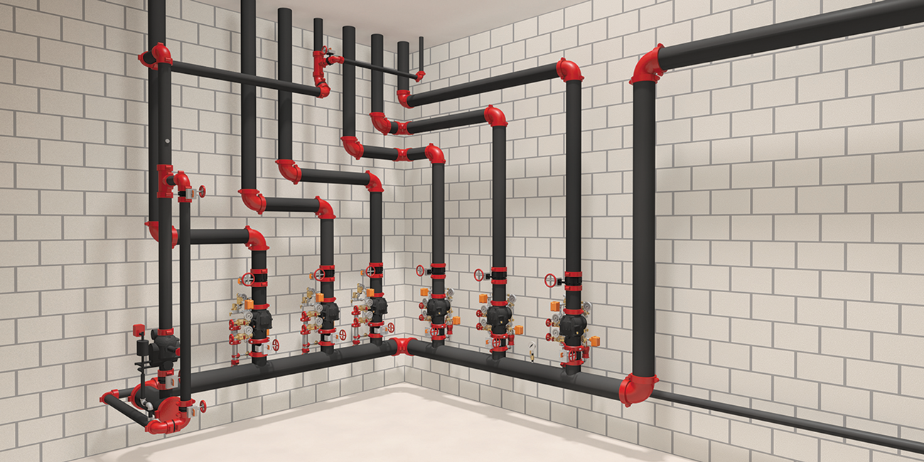 Rendering of a Victaulic Fire Valve Room.