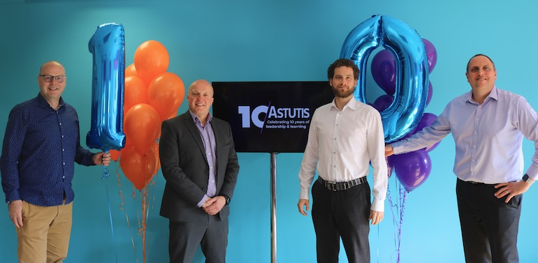 Left to right: Brenig Moore, Technical Director, Steve Terry, Managing Director, Tom Lea, Operations Director, Andy Rose, Finance Director. (Image copyright: Astutis)