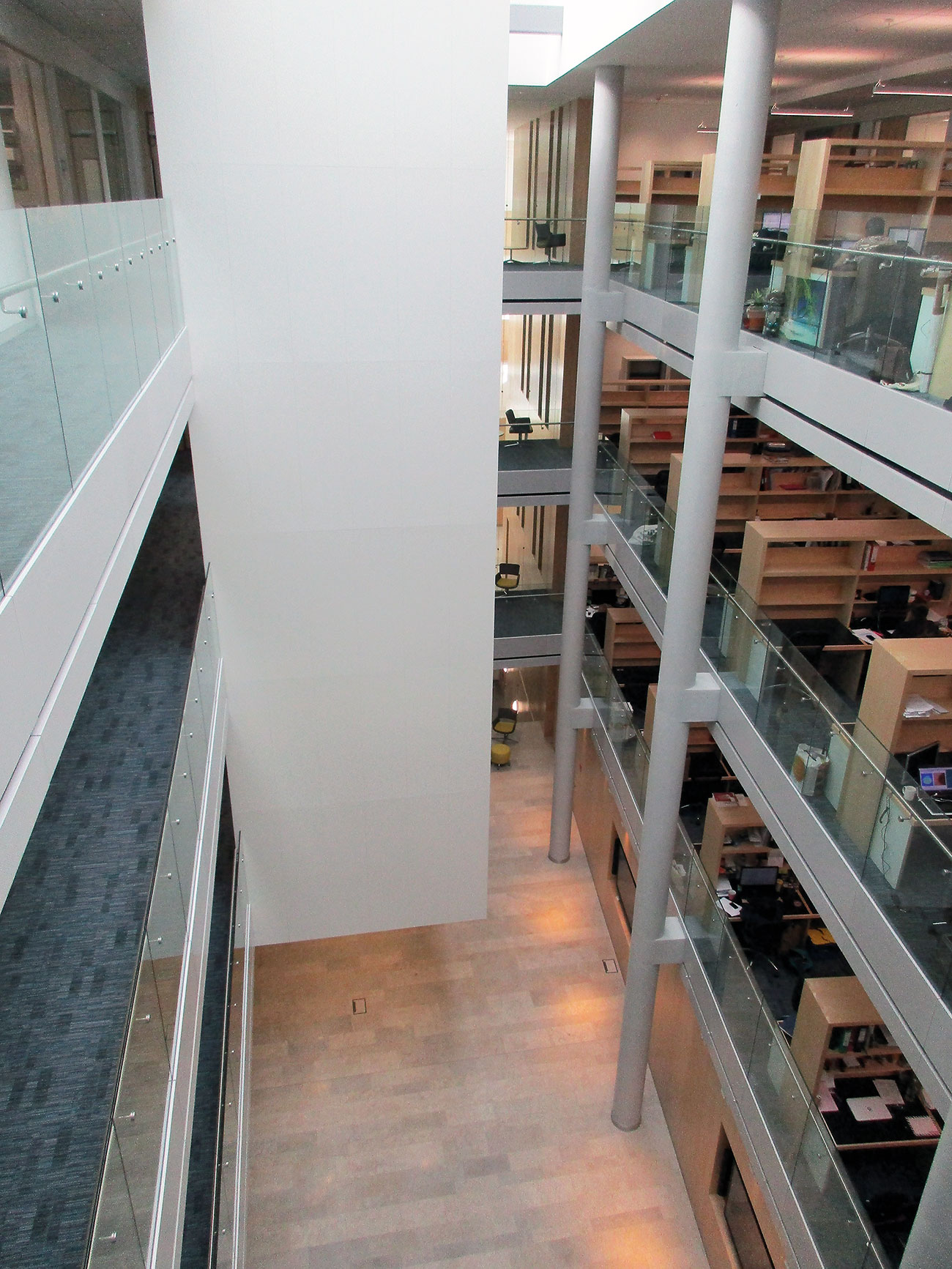 Example A of atrium protection to EN14972 part 10. Image courtesy of VID Fire-Kill.