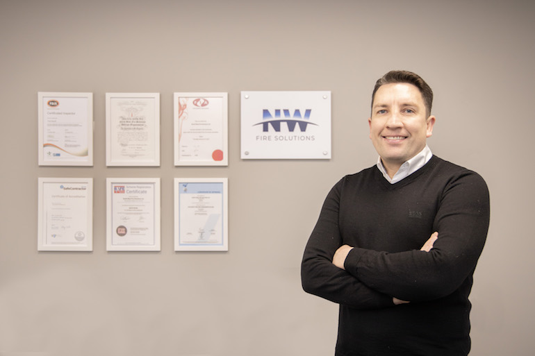 Neil Oxton, Director of NW Fire Solutions.