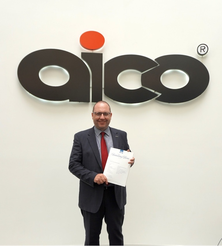 Aico's National Sales Director Steve Trafford with The Parliamentary Review. (Aico)