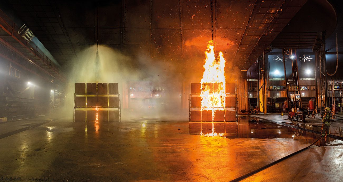 A panoramic view of the Fire Lab – covering over 10,000 square meters, the facility is the largest of its type in the world.
