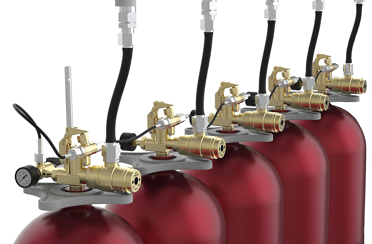 VTI CFR installed in a non-liquefied inert gas extingushing system.
