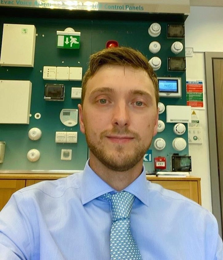 James Morrison, Regional Sales Manager for the North of the UK. (Hochiki Europe)